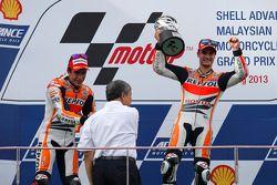 Ganador, Dani Pedrosa, segundo, Marc Márquez