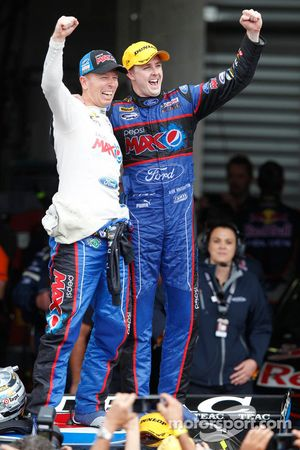 Race winners Mark Winterbottom and Steven Richards