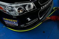 Nieuwe splitter op de Earnhardt Ganassi Racing Chevrolet
