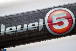 Level 5 Motorsports pit sign