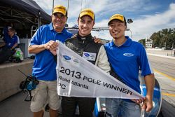 PC pole winner Dane Cameron with teammates Mike Guasch and David Cheng