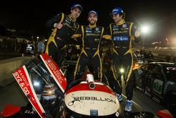P1 and overall race winners Neel Jani, Nick Heidfeld and Nicolas Prost celebrate