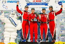 Michelin Green X Challenge GT winners Olivier Beretta, Matteo Malucelli, Robin Liddell