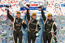 PC podium: class winners Kyle Marcelli, Chris Cumming, Stefan Johansson
