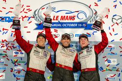 GTC pódio: classe vencedores Nelson Canache, Spencer Pumpelly, Madison Snow