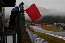 Rode vlag na hevige regenval