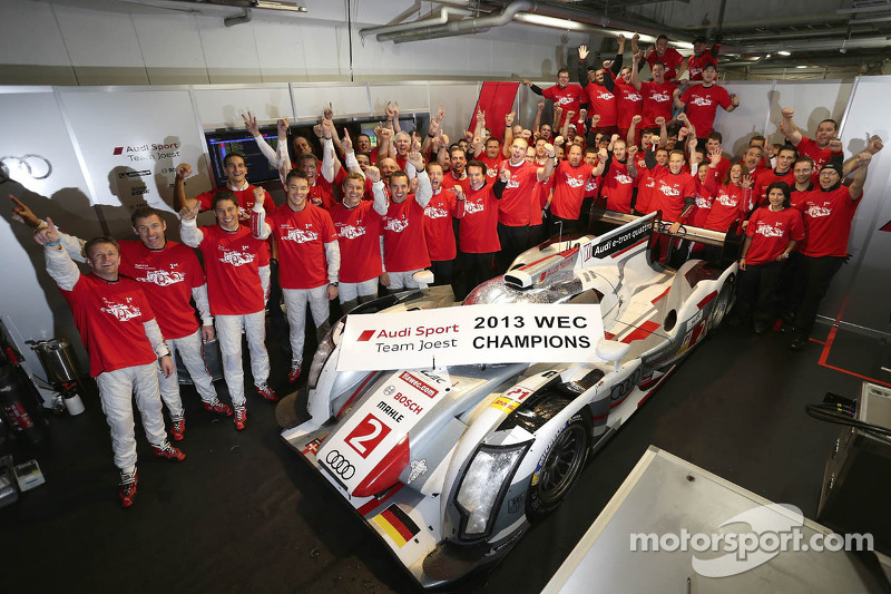 2013 kampioenen #2 Audi Sport Team Joest Audi R18 e-tron quattro: Tom Kristensen, Allan McNish, Loic Duval