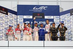 Podium: 1er Alexander Wurz, Nicolas Lapierre, Kazuki Nakajima, 2e Tom Kristensen, Allan McNish, Loïc Duval, 3e Andrea Belicchi, Mathias Beche