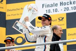 3rd in championship Bruno Spengler, BMW Team Schnitzer, with trophy