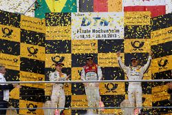 Championship Podium, 2nd Augusto Farfus, BMW Team RBM BMW M3 DTM, 1st Mike Rockenfeller, Audi Sport Team Phoenix Racing Audi A5 DTM, 3rd Bruno Spengler, BMW Team Schnitzer BMW M3 DTM