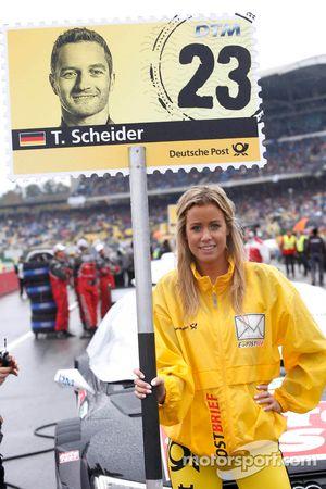Gridgirl of Timo Scheider, Audi Sport Team ABT Sportsline Audi A5 DTM