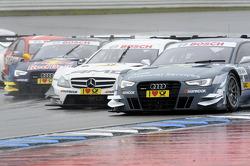 Filipe Albuquerque, Audi Sport Team Rosberg, Audi RS 5 DTM; Pascal Wehrlein, Mercedes AMG DTM-Team M