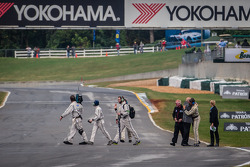A moment of emotion for Don Panoz and Scott Atherton on the starting grid