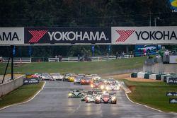 Largada: #12 Rebellion Racing Lola B12/60 Toyota: Nick Heidfeld, Neel Jani, Nicolas Prost lidera o p