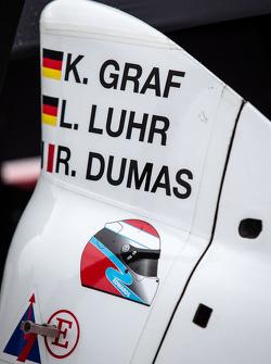 Sean Edwards decal on the #6 Muscle Milk Pickett Racing HPD ARX-03c HPD
