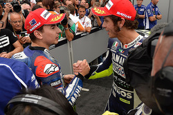 Valentino Rossi en Jorge Lorenzo
