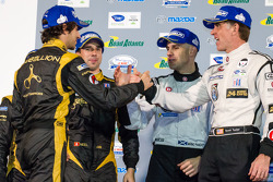 Class winners podium: Nicolas Prost, Neel Jani, Marino Franchitti and Scott Tucker