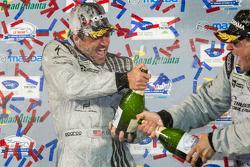 GTC podium: champagne for Patrick Dempsey