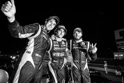 P1 and overall race winners Neel Jani, Nicolas Prost and Nick Heidfeld celebrate