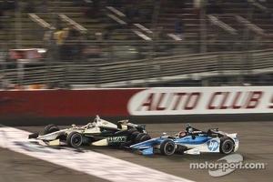 Ed Carpenter, Ed Carpenter Racing Chevrolet and Simon Pagenaud, Schmidt/Hamilton Motorsports Honda
