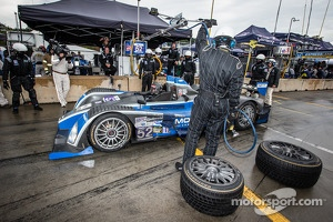 Pit stop for #52 PR1 Mathiasen Motorsports Oreca FLM09 Oreca: Mike Guasch, Dane Cameron, David Cheng