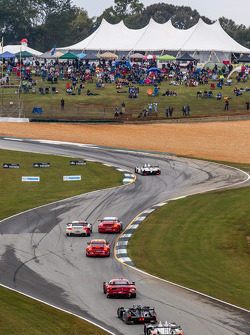Race action at the Esses