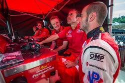 GT pole winner Matteo Malucelli with Olivier Beretta and Robin Liddell