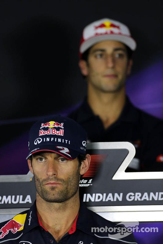 Mark Webber, Red Bull Racing e Daniel Ricciardo, Scuderia Toro Rosso