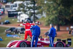 Matt McMurry spins on track