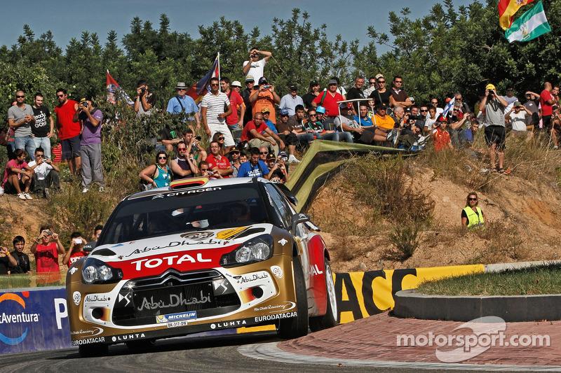 2013: Daniel Sordo y Carlos del Barrio, Citroen DS3 WRC, Citroën Total Abu Dhabi World Rally Team