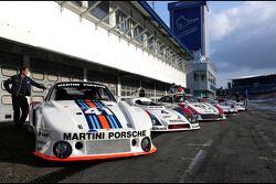 Porsches van Le Mans