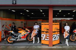 Repsol Honda team area