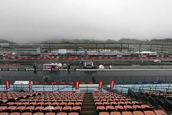 La neblina sobre el circuito