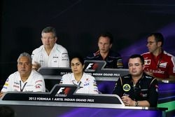 The FIA Press Conference, Ross Brawn, Mercedes AMG F1 Team Principal; Christian Horner, Red Bull Rac