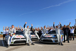 Volkswagen team celebrates