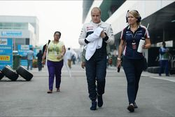 Valtteri Bottas, Williams met Sophie Eden, Williams Press Officer
