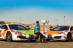 Geri Amani with McLaren Race Cars