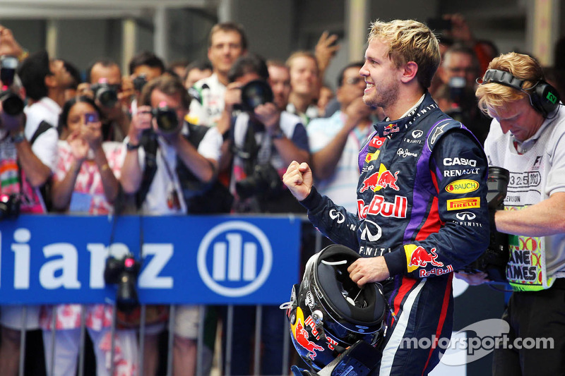 Ganador del GP de India 2013 y Campeón del Mundo 2013 Sebastian Vettel