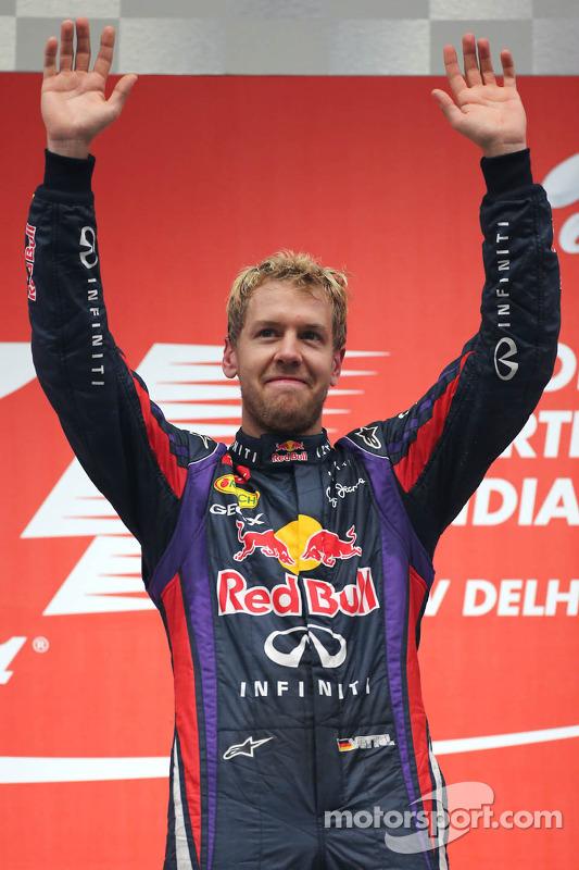 O vencedor e 2013 world champion Sebastian Vettel