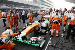 Sahara Force India F1 VJM06 on the grid