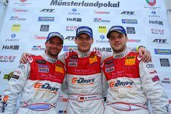 Winnaars overall Chris Mamerow, Marc Basseng, Laurens Vanthoor, Phoenix Racing, Audi R8 LMS ultra