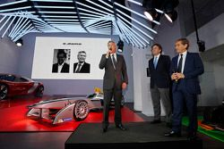 Alain Prost ve Jean-Paul Driot ve Alejandro Agag, Formula E kurucularından