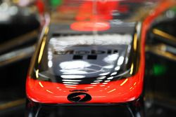 McLaren MP4-28 nosecone sporting a moustache as MOcLaren supports Movember 2013