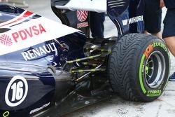 Sensors, rear suspension, Williams FW35