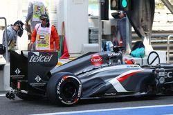 Nico Hulkenberg, Sauber C32 running sensor equipment