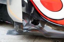 McLaren MP4-28 sidepod detay