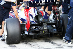 Sebastian Vettel, Red Bull Racing RB9 rear diffuser detail
