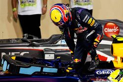 pole Mark Webber, Red Bull Racing RB9, no parque fechado