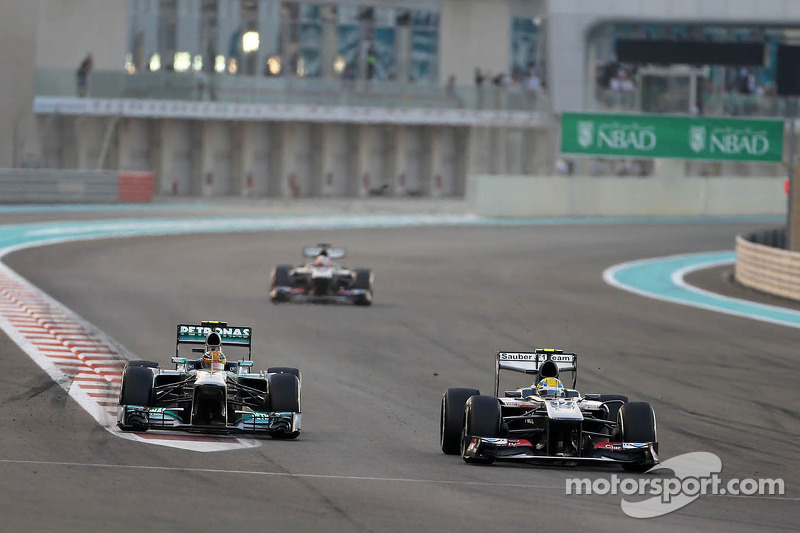 Lewis Hamilton, Mercedes Grand Prix and Esteban Gutierrez, Sauber F1 Team