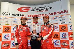 GT500 champions Yuji Tachikawa, Kohei Hirate